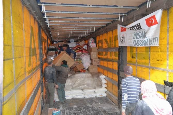 Bartın'dan Suriye'ye Giden Yardımlar Ulaştı