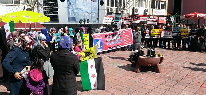 Ereğli'de Suriye Halkına Destek Eylemi Yapıldı