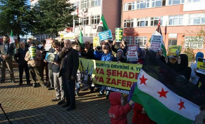 Eynesil'den Suriye İntifadasına Bin Selam