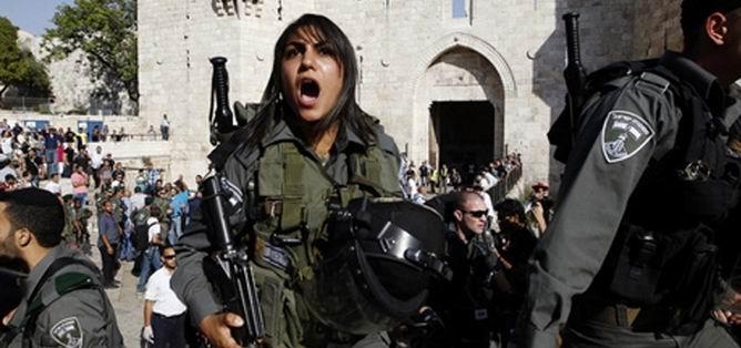 İsrail Ordusu Mescid-i Aksa'ya Girdi