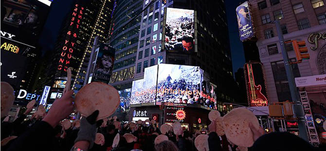 New York'ta Yermuk Protestosu