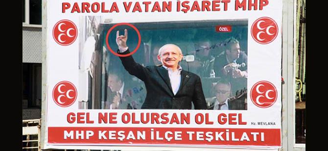 MHP'lilerden Kılıçdaroğlu Fotoğraflı Afiş