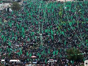 Filistin Halkı Hamas'a Olan Desteği Yineledi
