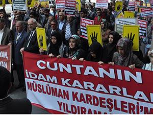 Mısır Cuntasının İdam Kararları Diyarbakır'da Lanetlendi!