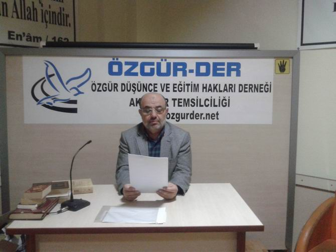 Akhisar Özgür-Der'den İdam Kararlarına Protesto