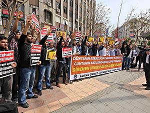 Darbeci Mısır Cuntası Adana'da Protesto Edildi