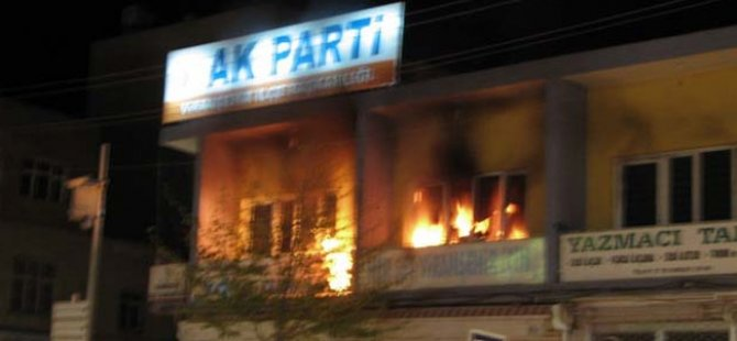 AK Parti İlçe Başkanlığına Saldırı
