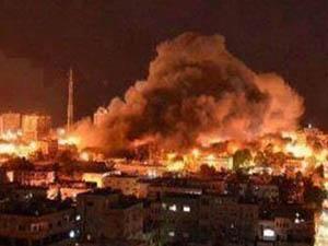 İşgalci İsrail Jetleri Gazze'ye Bomba Yağdırıyor