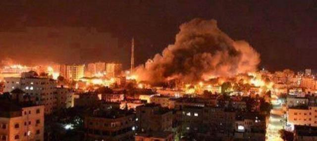İsrail Bu Gece Boyu da Gazze'yi Bombaladı!