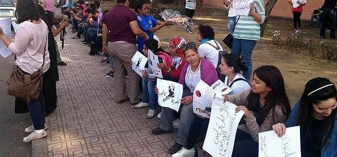Mısır'da Cumhurbaşkanlığı Sarayı Önünde Protesto