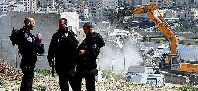 İsrail, Filistinlilere Ait 18 Evi Daha Yıktı!
