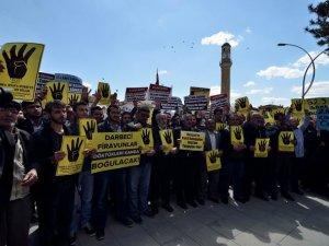 Çorum'da Mısır Cuntasının İdam Kararlarına Protesto