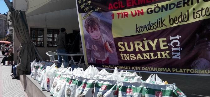 Ereğli'den Suriye Halkına 25 Ton Gıda Yardımı