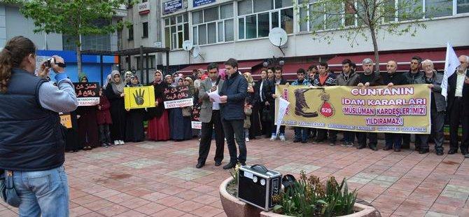 Ereğli'de Mısır Diktasının İdam Kararlarına Protesto