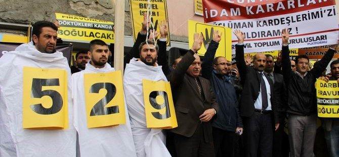 Ağrı'dan 529 İdam Kararına Protesto