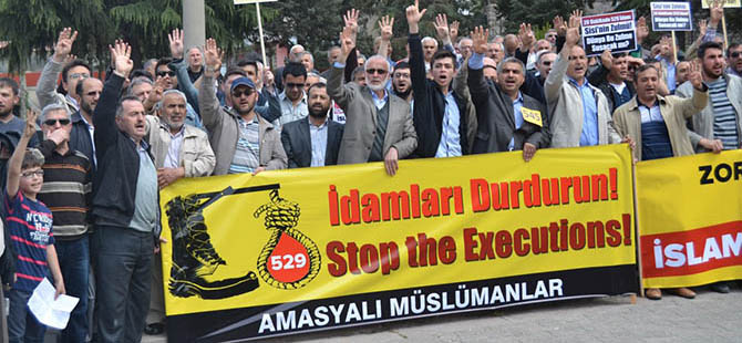 Amasya'da 529 İdam Kararı Lanetlendi