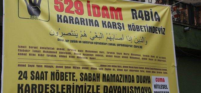 529 İdam Kararına Karşı R4bia Nöbeti