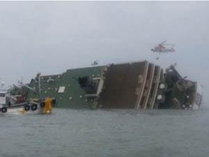 Güney Kore'de 470 Yolculu Gemi Battı