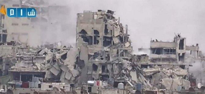 Humus'ta Hava Saldırısı: 14 Sivil Katledildi