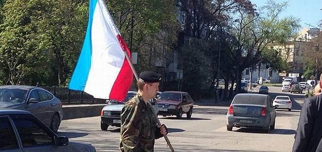 Ukrayna Bayrağını İndirip Kırım Bayrağı Astılar