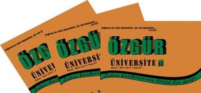 Özgür Üniversiteli Dergisinin Yeni Sayısı