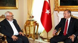 Gannuşi,  Başbakan Erdoğan ile Görüştü