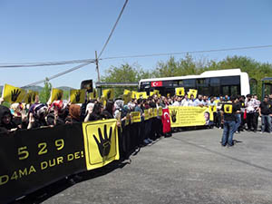 Bartın'da 3 Dilde Mısır Protestosu