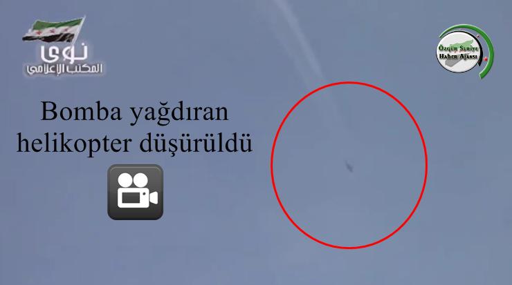 Direnişçiler Dera'da Ölüm Yağdıran Helikopteri Düşürdü