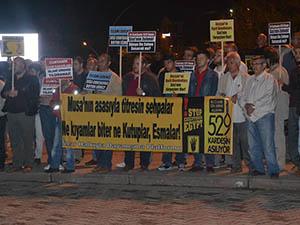 Amasya'da Mısır Protestosu