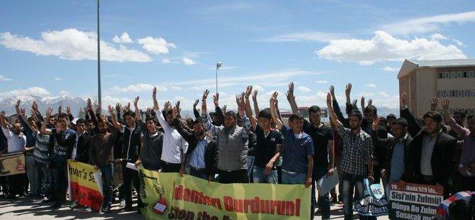 Van Üniversite Gençliğinden İdamlara Protesto