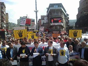 Zonguldak'ta Mısır Protestosu
