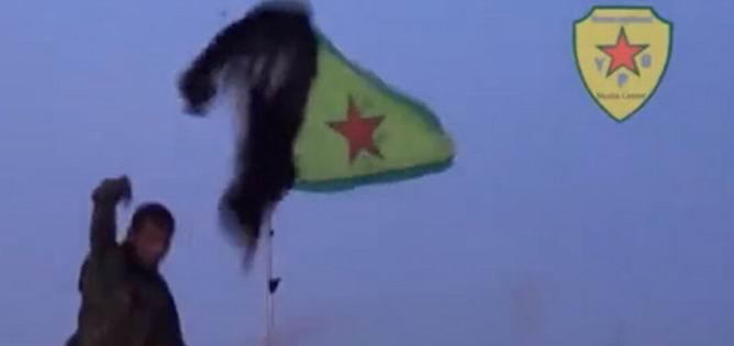 YPG 'den Tevhid Bayrağına Hakaret (Video)