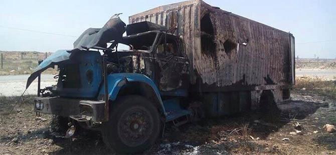 Suriye'de İHH TIR'ına Saldırı: 1 Şehit, 2 Yaralı