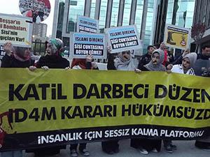 Ankara'da Mısırlı Müslümanlara Destek Eylemi
