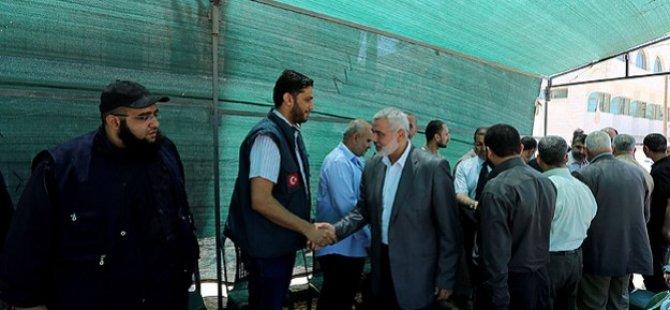 Heniye Gazze'de Kurulan Taziye Çadırını Ziyaret Etti