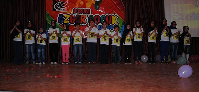 Çorum Özgür-Çocuk Kulübü Yıl Sonu Etkinliği Düzenledi