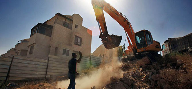 İsrail'den Kudüs ve Eriha'da 72 Eve Yıkım Kararı