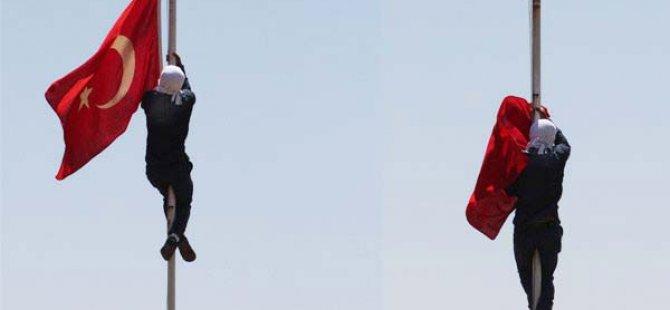 Diyarbakır'da Bayrağı İndiren Şahıs Yakalandı