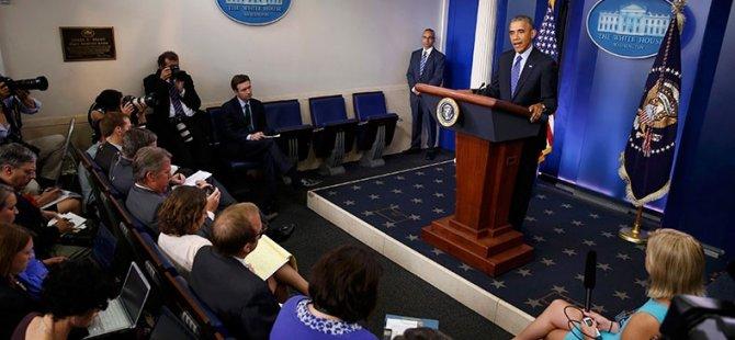 Obama: ABD Savaşmadan Vurmaya Hazır
