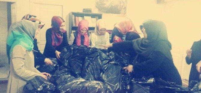 Beykoz Özgür-Der Öğrencilerinden Suriyeli Mültecilere Yardım