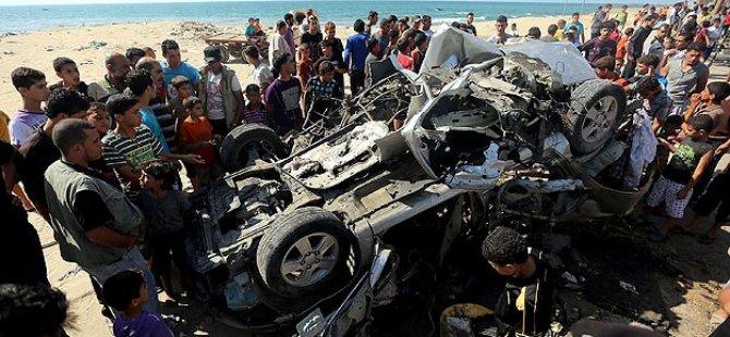 Siyonist İsrail'den Gazze Şeridi'ne Hava Saldırısı