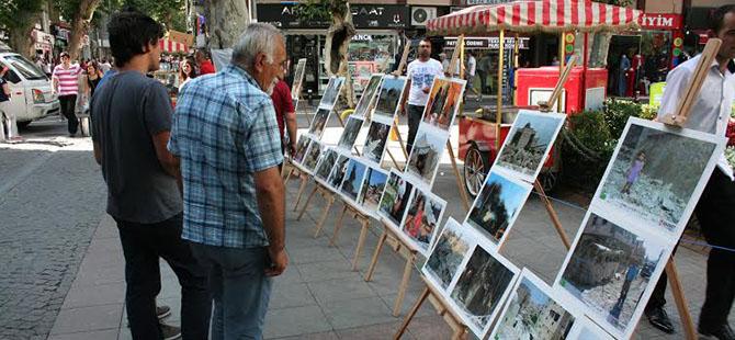 """Pendik'te """"Suriye'de İnsanlık Dramı"""" Resim Sergisi"""