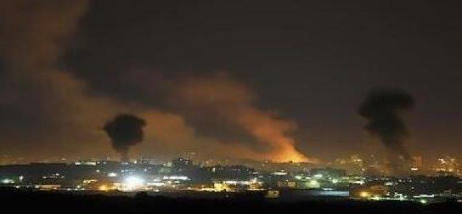 Siyonist İsrail, Gazze'ye Hava Saldırıları Düzenledi