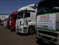İHH TIR'ları Suriye Kürdistanına Doğru Yola Çıktı