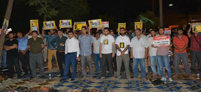 Adana'da İftar ve Mısır Darbesini Protesto