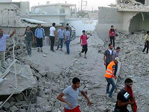 Azez'de Vakum Bombalı Saldırı (VİDEO)