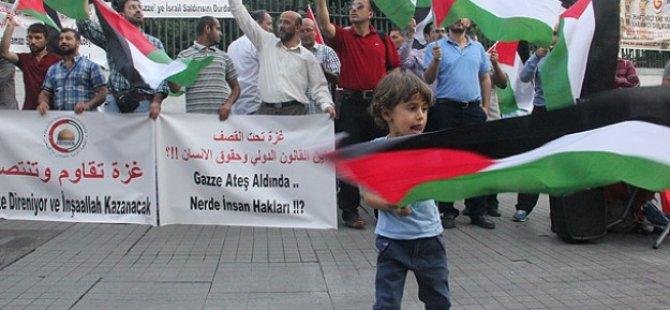 Beyoğlu'nda Siyonist İsrail Protestosu