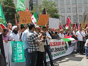 Galatasaray Lisesi Önünde İsrail Protestosu