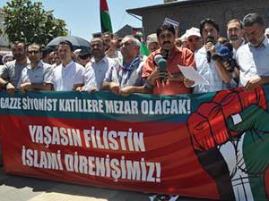 Siyonist Vahşet Diyarbakır'da Lanetlendi (FOTO)
