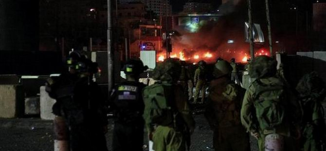 Batı Şeria'da Gazze Protestosu (FOTO)